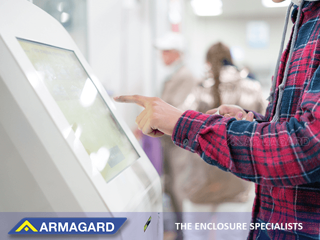 Digital signage enables customers to access banking services in-branch
