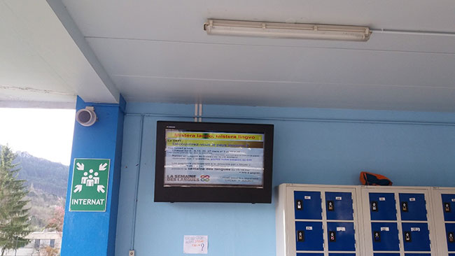 digital signage locker room