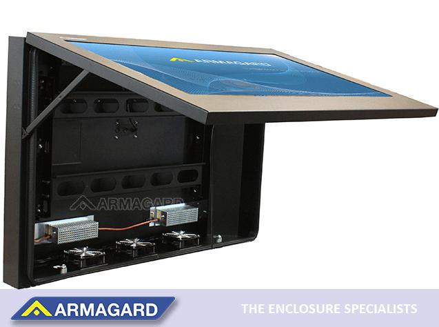 slim profile enclosure ideal for protecting home digital signage system