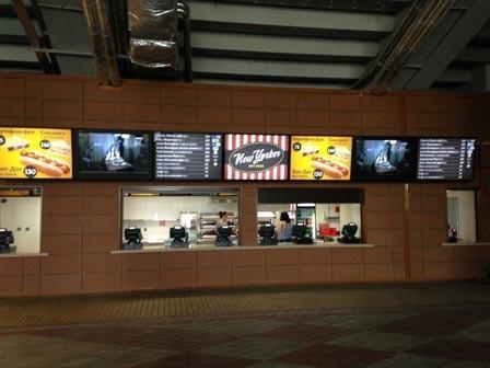 digital menu boards indoors