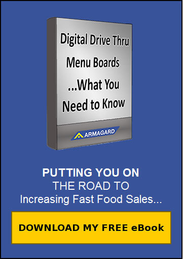 drive thru digital signage