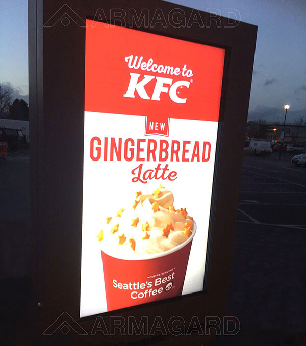 Outdoor digital signage KFC