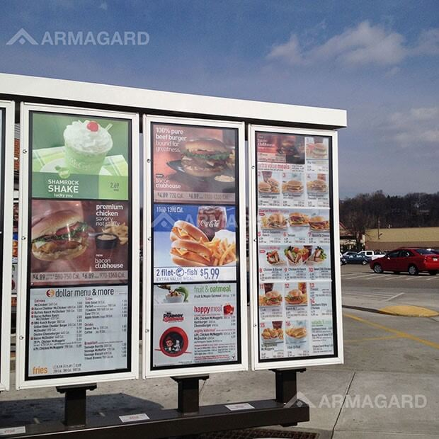 Triple-Screen, Printed Menu Boards