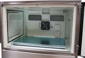 Heated Printer enclosure door opened