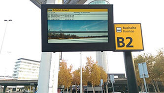 NEC & Schiphol Airport single LCD Enclosures
