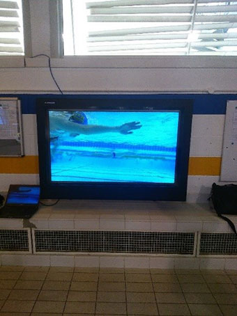 PDS LCD Enclosure in swimming Pool
