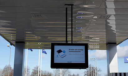 volvo digital signage installed