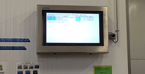 Stainless-steel food processing digital screen solution from Armagard
