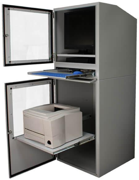 Good Industrial Computer Cabinet With Both Doors Open ...
