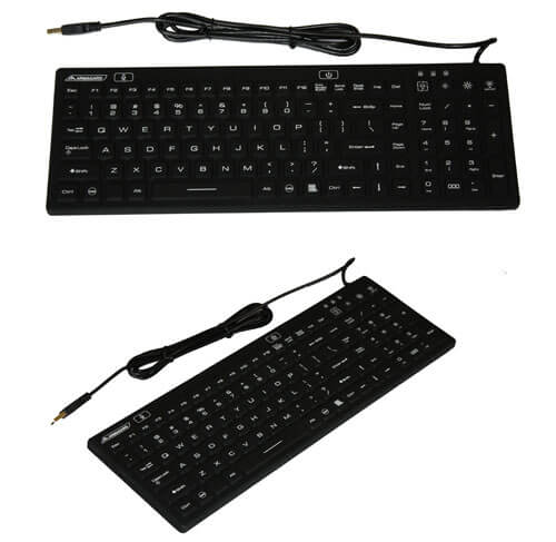 Illuminated Keyboard Black