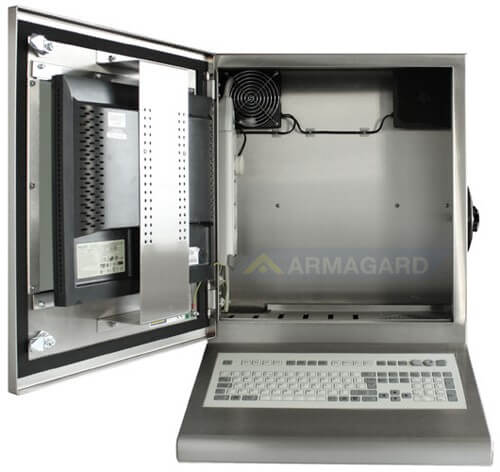 Compact Waterproof Enclosure | Reliable Computer and Screen