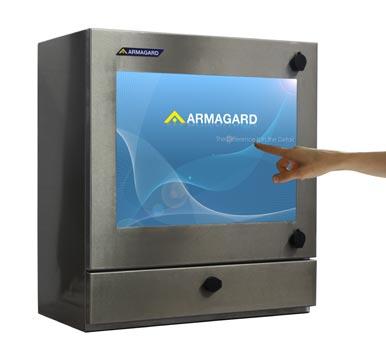 SENC-550 NEMA 4X touch screen monitor front view