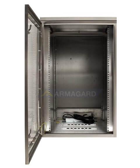 ... Waterproof Rack Mount Cabinet View With Front Door Open ...