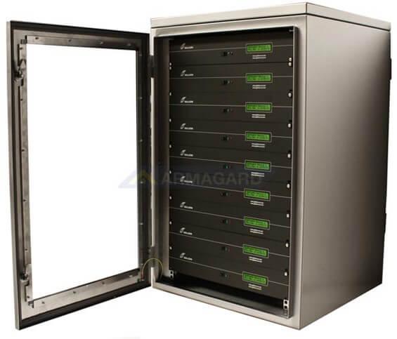 ... Waterproof Rack Mount Cabinet Full To 18U Capacity