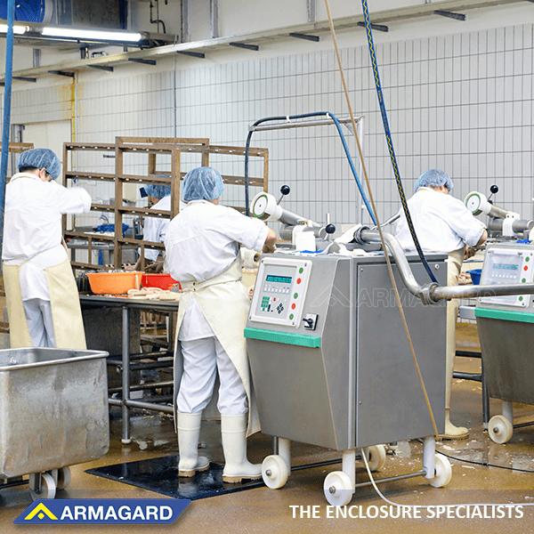 A food processing plant, where IP69K equipment is used
