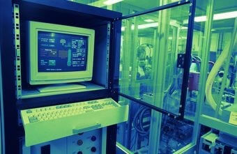 office computer on manufacturing floor