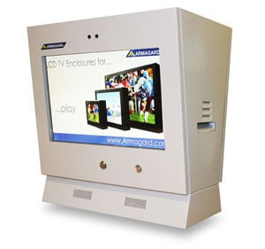 customized LCD enclosure for a petrol station