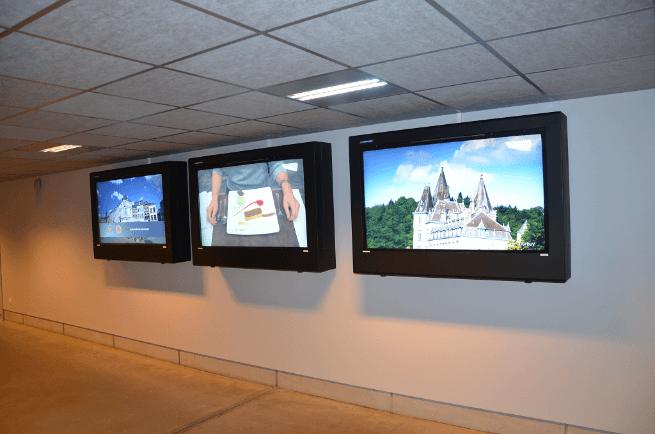 LCD enclosure indoors