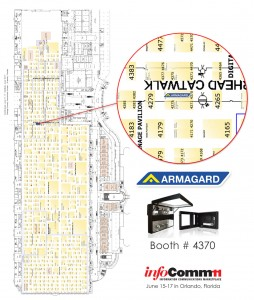 floorplan of infocomm11 indicating where the armagard booth #4370 will bee