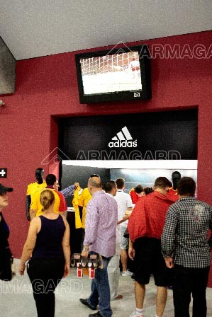 This LCD enclosures used at football stadium in Bucharest are seen by thousands, providing vital information out of match time. Armagard | 2012