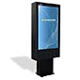 Outdoor totem digital menu board