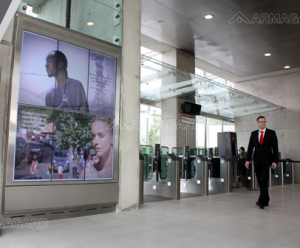 Cable car outdoor digital signage