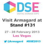 graphic to invite people to visit-armagard at stand #131 at DSE-2013
