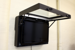 digital signage enclosure hanging