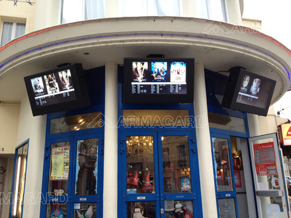 outdoor digital signage at a cinema