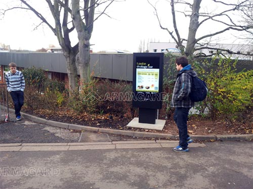"47"" outdoor totem digital signage installed at Loughborough University, UK"