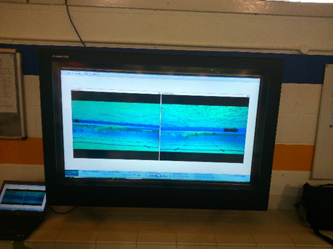 poolside digital signage