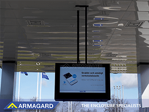 ceiling-mounted, Armagard digital signage