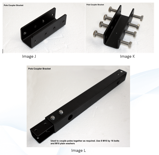 assembling an digital signage pole coupler bracket