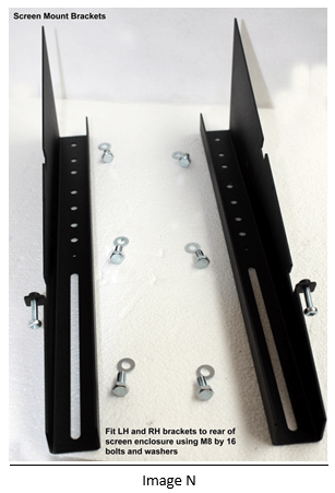 assembling an digital signage screen mount brackets
