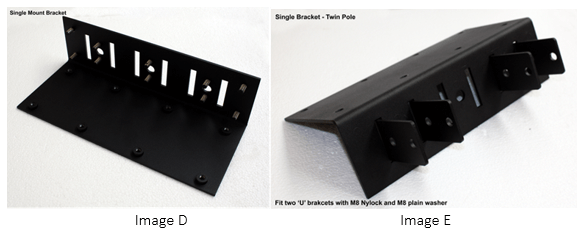 assembling an digital signage single mount bracket
