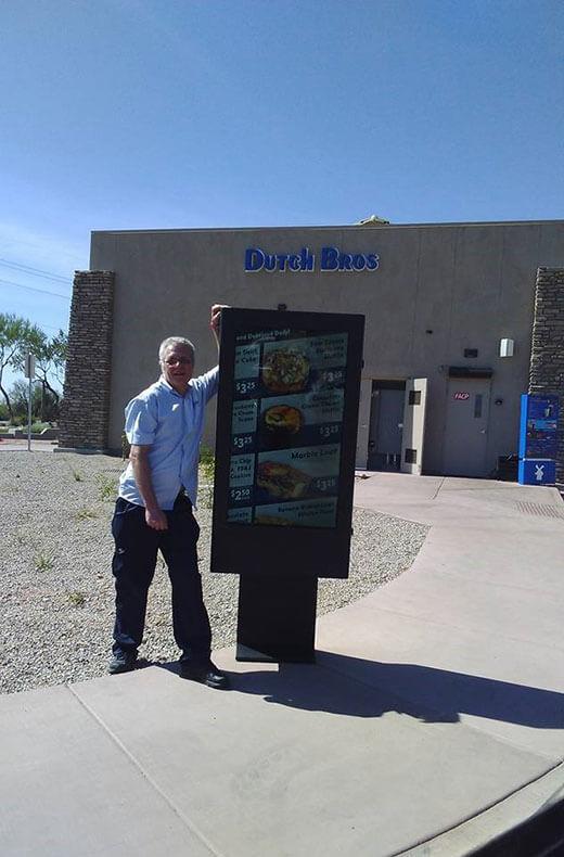 Outdoor digital Signage Installed