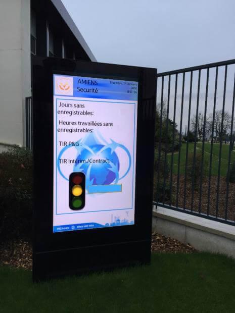 "Armagard's 75"" outdoor digital advertising display for Procter & Gamble"