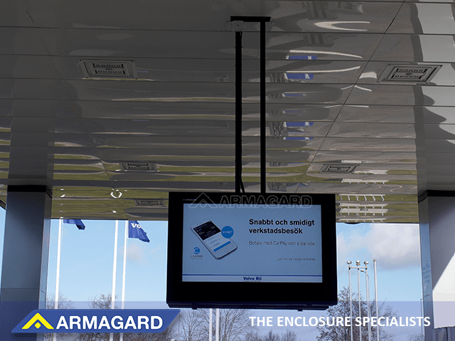 LCD digital signage enclosure as used by Volvo in Sweden