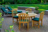 garden furniture set in a lovely garden