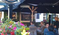 TV outdoors in a pub